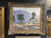 Sale 8932 - Lot 2047 - Artist Unknown - Landscape, Oil, 53.5x54cm, needs restoring