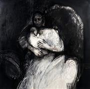 Sale 9013 - Lot 579 - Margaret Woodward (1938 - ) - Mother & Child 120 x 120 cm (frame: 136 x 136 x 6 cm)
