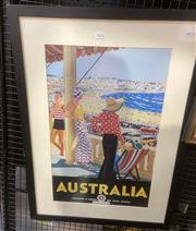 Sale 9087 - Lot 2025 - Trumpf Australia decorative print after original 83 x 59 cm (frame) -