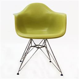 Sale 9252AD - Lot 5067 - EAMES DAR CHAIR IN LIME GREEN FOR VITRA (SET OF 10): plastic and metal (w. 62.5, d. 60, h.83 cm, seat height 43 cm)