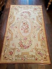 Sale 8448A - Lot 82 - French Aubusson style woolen floor rug Condition: very good Measurements: 150cm long x 91cm wide