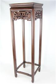 Sale 8473 - Lot 43 - Carved Rosewood Pedestal