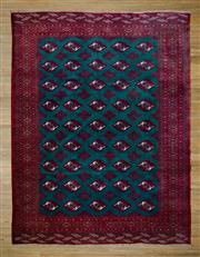 Sale 8566C - Lot 38 - Mid C20th Persian Turkman Silk Base 280cm x 210cm