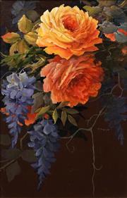 Sale 8665 - Lot 598 - Aileen Craigie - Roses 34 x 21.5cm