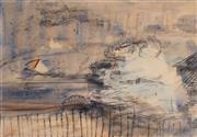 Sale 8947 - Lot 552 - Lloyd Rees (1895 - 1988) - Untitled (Cityscape) 13 x 18 cm (frame: 30 x 35 x 3 cm)