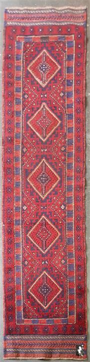 Sale 8959 - Lot 1072 - Red Tone Persian Baluchi Runner (240 x 60cm)