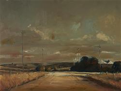 Sale 9096A - Lot 5011 - Patrick Carroll (1949 - ) - Golden Sunset 44 x 59.5 cm (frame: 63 x 78 x 5 cm)