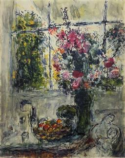 Sale 9108A - Lot 5042 - Marc Chagall (1887 - 1985) - Still Life with Flowers 94 x 89 cm (sheet)