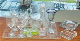 Sale 9164H - Lot 82 - A quantity of glasswares including jugs, syrup jars, and stemwares