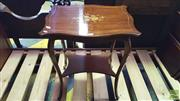 Sale 8402 - Lot 1072 - Edwardian Marquetry Occasional Table of Two Tiers and Cabriole Legs