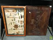 Sale 8544 - Lot 2057 - Nautically Themed Composition Wall Hanging with a Copper Pub Wall Hanging (2)