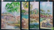 Sale 8600 - Lot 2085 - 4 Works by Humphrys - Nature Scenes, Oil on Board SLR