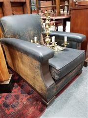 Sale 8697 - Lot 1052 - Timber Framed Art Deco Club Chair