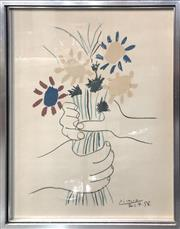Sale 8784 - Lot 2003 - After Picasso Flowers colour lithograph, 69 x 53cm (frame) Provenance: Woollahra Galleries