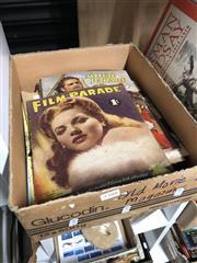 Sale 8789 - Lot 2388 - Box of Movie Magazines & Programs