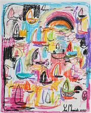 Sale 8924 - Lot 2011 - Yosi Messiah (1964 - ) Untitled, 2020 mixed media on paper (unframed) 50x65cm, signed and dated -