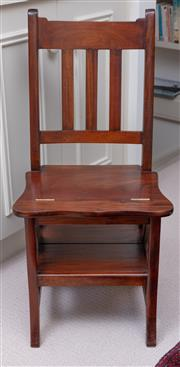 Sale 9005H - Lot 99 - A contemporary timber metamorphic library step chair, Height of back 89cm