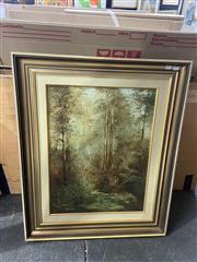 Sale 9004 - Lot 2068 - Norman Robins, Bushlands, oil on board, 83 x 68 x 5cm (frame), signed lower left