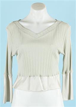 Sale 9091F - Lot 63 - A NICOLA FINETTI TOP; pale celadon green viscose, size S