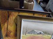 Sale 8446 - Lot 2069 - (2 works) Robert Munz & Artist Unknown (XX) - Bush Scene; Outback Shed 39.5 x 50cm; 29.5 x 40cm