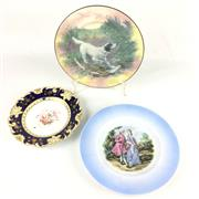 Sale 8545N - Lot 185 - Three Cabinet Plates including Doulton, Shelley and a Continental example (Largest Diameter: 28cm)