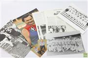 Sale 8618 - Lot 18 - Kerry OKeefe (2 signed Oz teams), Liz Ellis (14 signed), Ron Barassi (3 AGNSW cards)
