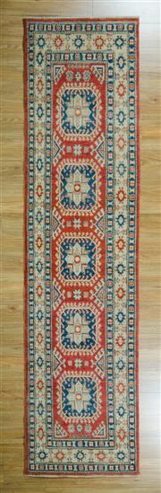 Sale 8625C - Lot 31 - Afghan Kazak 333cm x 82cm