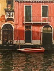 Sale 8652 - Lot 519 - Ralph Wilson (1955 - ) - Venice Boat 105 x 80cm