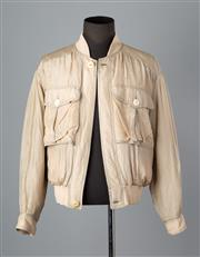 Sale 8661F - Lot 3 - A Valentino Uomo silk blend bomber jacket with printed cotton lining, size 48.
