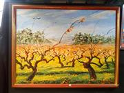 Sale 8671 - Lot 2044 - Barry Skinner - Vineyard McLaren Vale, S.A, 122 x 91cm, signed lower right