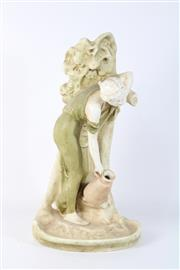 Sale 8757 - Lot 68 - Bisque Style Figure of A Lady with Jug ( H 46cm)