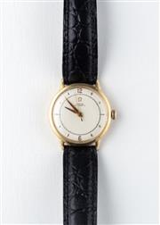 Sale 8770 - Lot 72 - A Vintage 14ct Gold Filled Omega Wristwatch; matte dial, centre seconds, 17 jewel cal.354 bumper automatic movement, case diam. 32mm...