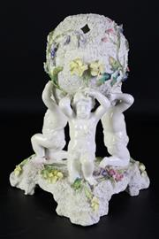 Sale 8985 - Lot 47 - A decorative English ceramic centrepiece,  (some chips)