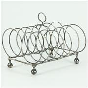 Sale 8314 - Lot 51 - English Hallmarked Sterling Silver George III Toast Rack