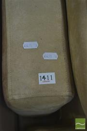 Sale 8383 - Lot 1442 - Tan Suede Fabric L Shaped Lounge