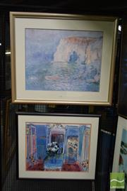 Sale 8506 - Lot 2086 - Claude Monet and Raoul Duffy Decorative Prints (framed, various sizes) (2)