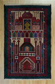 Sale 8625C - Lot 32 - Persian Baluchi 137cm x 85cm