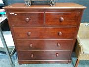 Sale 8672 - Lot 1008 - Mahogany Chest of Five Drawers