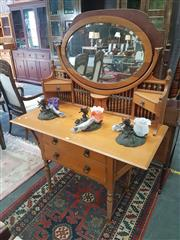 Sale 8676 - Lot 1165 - Timber Mirrored Back Dresser with Four Drawers