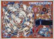 Sale 8720 - Lot 2014 - David Ryan (2 works) - Ashram Days, Ashram Nights, 1979 ; Untitled (Geometric Abstract) 75 x 105cm; 16.5 x 22cm
