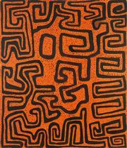 Sale 8718 - Lot 557 - Kurrapa Pijaju Peter Skipper - Untitled, 1998 acrylic on linen