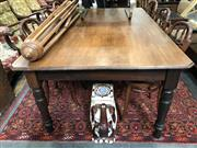 Sale 8822 - Lot 1744 - Rustic Vintage Dining Table
