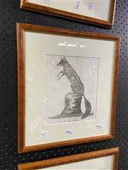 Sale 8936 - Lot 2071 - Peter Mazell, Spotted Opossum, Engraving Framed, 22x18cm