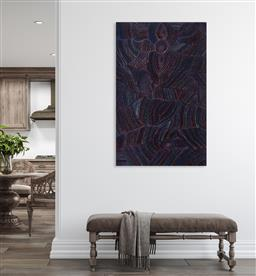 Sale 9171A - Lot 5078 - JOY PITJARA (1965 - ) Bush Plum acrylic on canvas 149 x 94 cm (stretched and ready to hang) signed verso; certificate of authenticit...