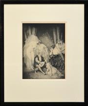 Sale 8309A - Lot 100 - Norman Lindsay (1878 - 1969) - Ragged Poet 35 x 26.5cm