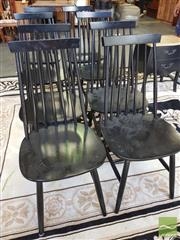 Sale 8447 - Lot 1056 - Set of Eight Spindle Back Dining Chairs