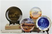 Sale 8470 - Lot 20 - Bradford Exchange Commemorative Plates with Royal Vistas Ware Cabinet Plate inc West German Dresden Plate