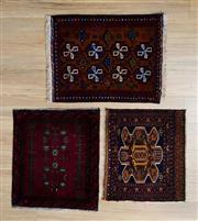 Sale 8566C - Lot 41 - 3 x Persian Door Mats 80cm x 60cm