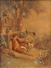 Sale 8642A - Lot 5076 - French School (C19th) - Liasons 31 x 28cm