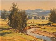 Sale 8665 - Lot 570 - Melvin Duffy (1930- ) - Cattles Grazing - Page Creek, Hunter Valley 29 x 39cm